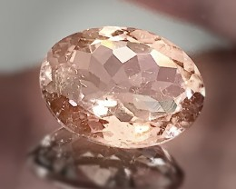 5.32ct Tourmaline Silver Pink (Salmon hue) Shining gem