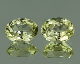 8X6 MM AAA QUALITY NATURAL SILLIMANITE PAIR - SLP51