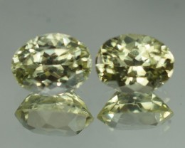 8X6 MM TOP QUALITY NATURAL SILLIMANITE PAIR - SLP70