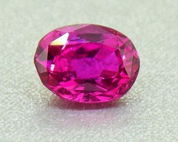 Unheated Ceylon HOT Pink Sapphire 0.68 Ct. Will look Amazing a Ring! (00680
