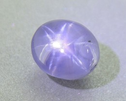 Rare Twin Star Sapphire 4.33 Ct Unheated Certified (01255)
