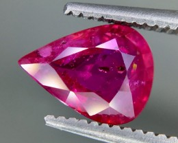1.25 Crt Ruby Unheated Gil Certified Faceted Gemstone