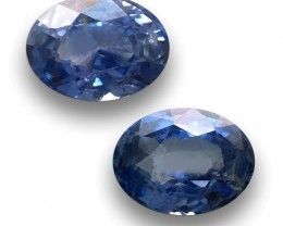 Natural Blue Sapphire Pair|Loose Gemstone| Sri Lanka - New