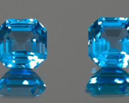 Blue Topaz Total 8.95 ct Brazil GPC Lab