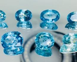 23.40 Crt Blue Zircon Faceted Gemstone (R 175)