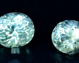 6.80 cts Untreated Aquamarine Gemstones Pair from Pakistan