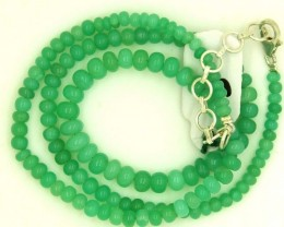 68.55CTS CHRYSOPRASE BEAD STRAND NP-2376