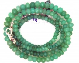 67.00CTS CHRYSOPRASE BEAD STRAND NP-2377