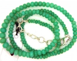 59.75CTS CHRYSOPRASE BEAD STRAND NP-2378