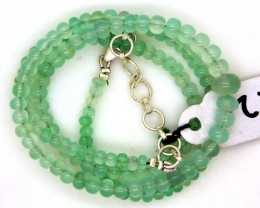 61.35CTS CHRYSOPRASE BEADS STRAND NP-2383