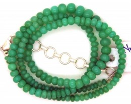 56.80CTS CHRYSOPRASE BEADS STRAND NP-2386
