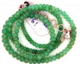 70.80CTS CHRYSOPRASE BEADS STRAND NP-2390