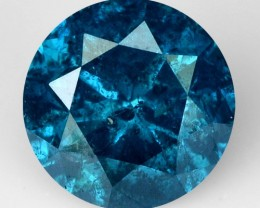 0.34 Cts Natural Fancy Blue Diamond Round Africa