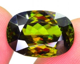 11.20 Ct Top Fire Natural Brilliant Quality Chrome Sphene