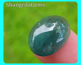 15.8mm Green blue Tourmaline cabochon oval 10.2ct 15.8 by 12.2 by 6.3mm