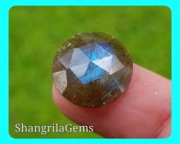 15mm Labradorite ROSE cut gemstone cabochon 15mm by 5mm deep