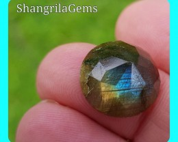 15mm Labradorite ROSE cut gemstone cabochon 15mm by 7mm deep