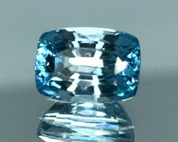 1.88 CT BLUE ZIRCON HIGH QUALITY GEMSTONE S60