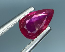 1.05 CT NATURAL RUBY UNHEATED CERTIFIED TOP QUALITY GEMSTONE