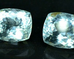 7.90 carats Natural Aquamarine Gemstones Pair from Pakistan