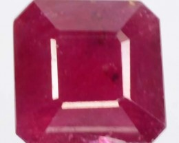 6.92 Cts Natural Blood Red Ruby 10 mm Square Thailand Gem