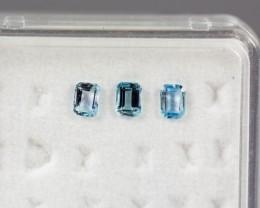 4.03 - 4.07 x 3.00 - 3.04 x 2.16 Blue Aquamarine 0.55 ct Brazil GPC Lab