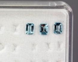 4.03 - 4.07 x 2.95 - 2.99 x 2.02 Blue Aquamarine 0.59 ct Brazil GPC Lab