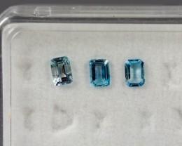 4.03 - 4.07 x 2.90 - 2.94 x 2.11 Blue Aquamarine 0.57 ct Brazil GPC Lab