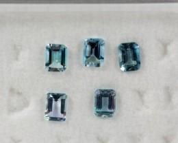 4.08 - 4.12 x 3.00 - 3.04 x 2.37 Blue Aquamarine 0.96 ct Brazil GPC Lab