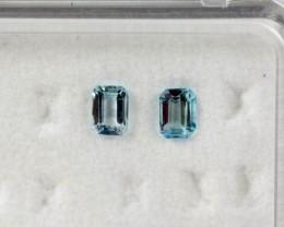 4.08 - 4.12 x 2.95 - 2.99 x 2.34 Blue Aquamarine 0.40 ct Brazil GPC Lab