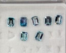 4.08 - 4.12 x 3.05 - 3.09 x 2.05 Blue Aquamarine 1.43 ct Brazil GPC Lab
