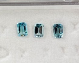 4.08 - 4.12 x 2.85 - 2.89 x 2.07 Blue Aquamarine 0.57 ct Brazil GPC Lab