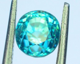 Certified Top Grade 2.07 ct Blue Zircon~Cambodia