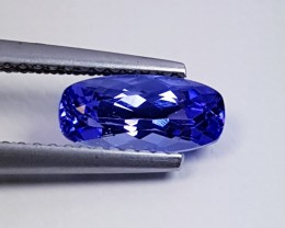 1.42 cts AAA Top Grade Blue Rectangular Cushion Cut Natural Tanzanite