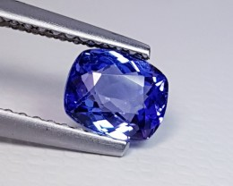 0.87 cts AAA Top Grade Blue Cushion Cut Natural Tanzanite