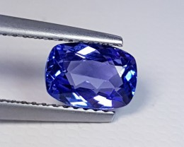 1.22 cts Awesome Blue Rectangular Cushion Cut Natural Tanzanite
