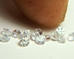 1.86 Tcw. White Zircon Accent Gems - 2.7mm - 14 pc.