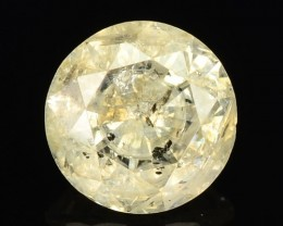 1.03 Cts Natural Pale Yellow Diamond Round Africa