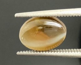 4.50 Crt Chrysoberyl Cat Eye Cabochon Gemstone (R 176)