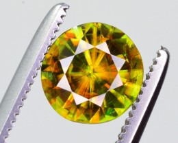 1 Ct Marvelous Fire Natural Chrome Sphene ~ Skurdu Pakistan ~ J.