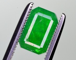 1.50 Ct Brilliant Color Natural Green Emerald From Panjsher ~ RA
