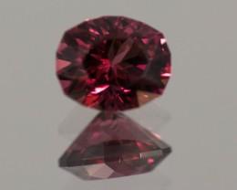 Red Garnet Rhodolite  1.26 ct GPC Lab