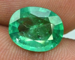 2.25 cts Oval Cut Rare Super Quality Emerald Gemstone From Panjshir