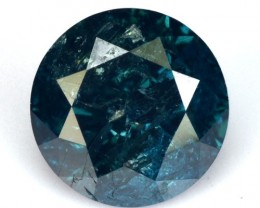 0.52 Cts Natural Fancy Blue Diamond Round Africa