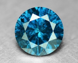 0.27 Cts Natural Blue Diamond Round Africa