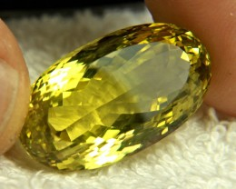 38.94 Carat Natural African VVS Lemon Quartz - Gorgeous