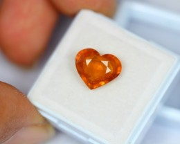 4.92Ct Natural Yellow Sapphire Heart Cut Lot V1323