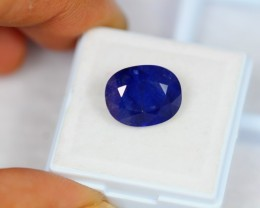8.72Ct Natural Blue Sapphire Oval Cut Lot V1328