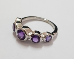 Amethyst 925 Sterling silver ring #551
