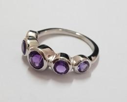 Amethyst 925 Sterling silver ring #551